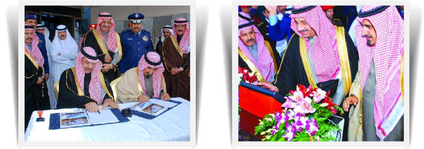 His Royal Highness Prince Khalid bin Sultan lays the foundation stone of the Institute